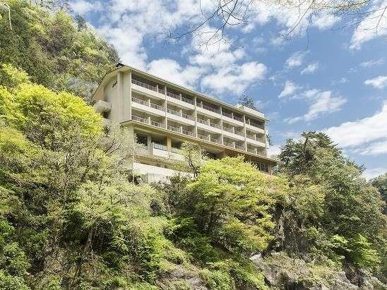 鳩ノ巣渓谷(多摩川)を見下ろす全室ベランダ付き