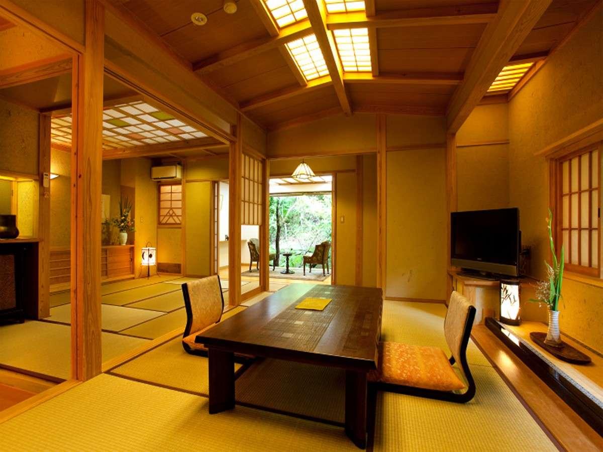 【石竹】メゾネットタイプ。1階は和室7.5畳+6畳の二間
