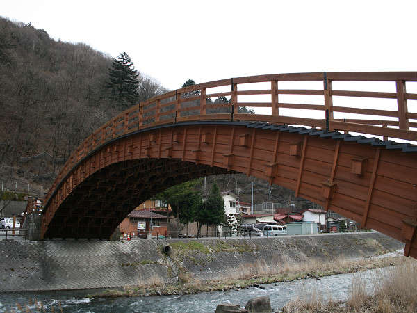 奈良井宿 木曾大橋