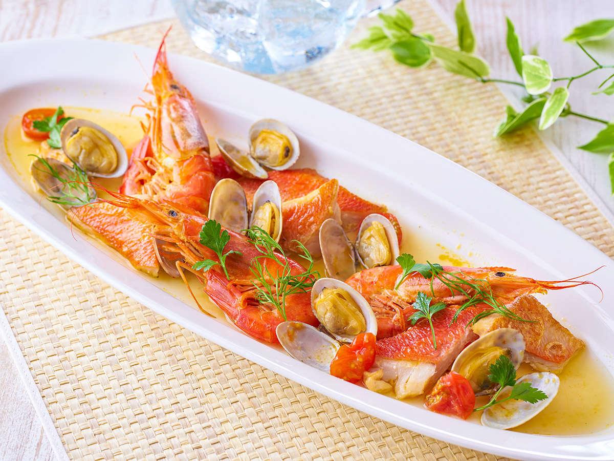 【★2021夏の料理フェア★】金目鯛と赤海老のアクアパッツァ※イメージ
