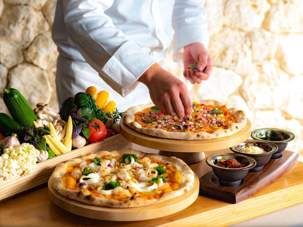 食材の持ち味を活かすイタリアンと沖縄食材とのコラボレーションをお楽しみください。