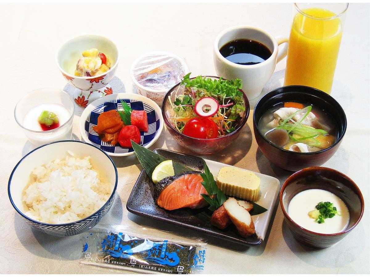 朝食:和食(コロナ対策のためただいま、定食にてご提供させて頂いております)