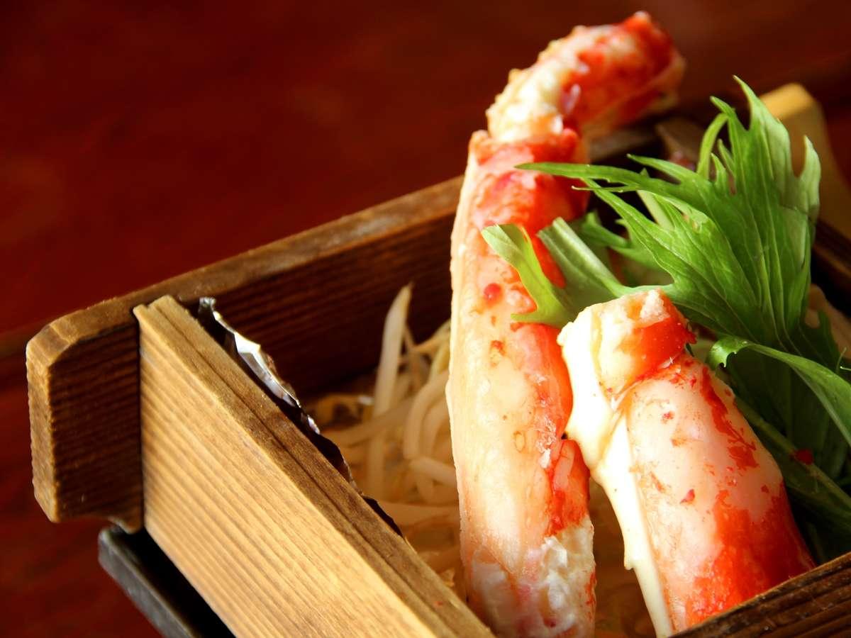 *お夕食一例(蟹)/当日の仕入れによっては蟹がでることも!?出会えたあなたはラッキー☆