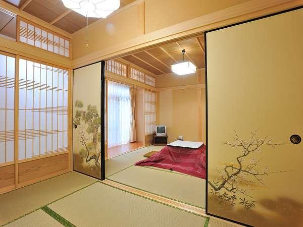 客間の一例。8畳2間のお部屋です。
