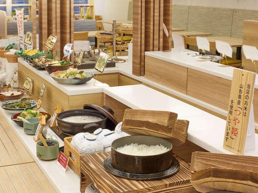 山形県産「つや姫」が食べられる朝食