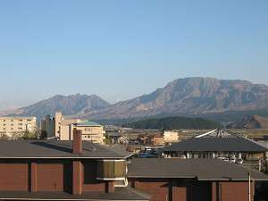 【景観】当館の客室からは阿蘇の壮大な山々を望むことが出来ます/写真は阿蘇五岳側の客室から
