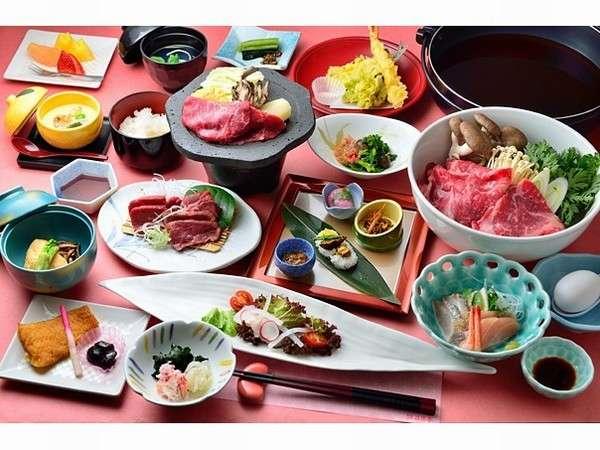 上州牛すき焼きプラン和食膳_一例