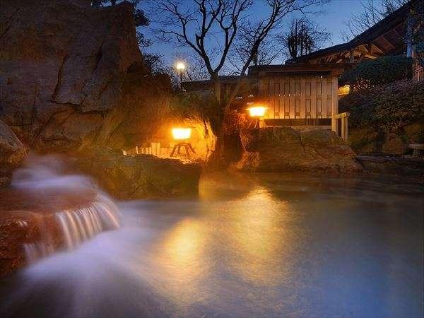 【天然温泉の露天風呂】夜