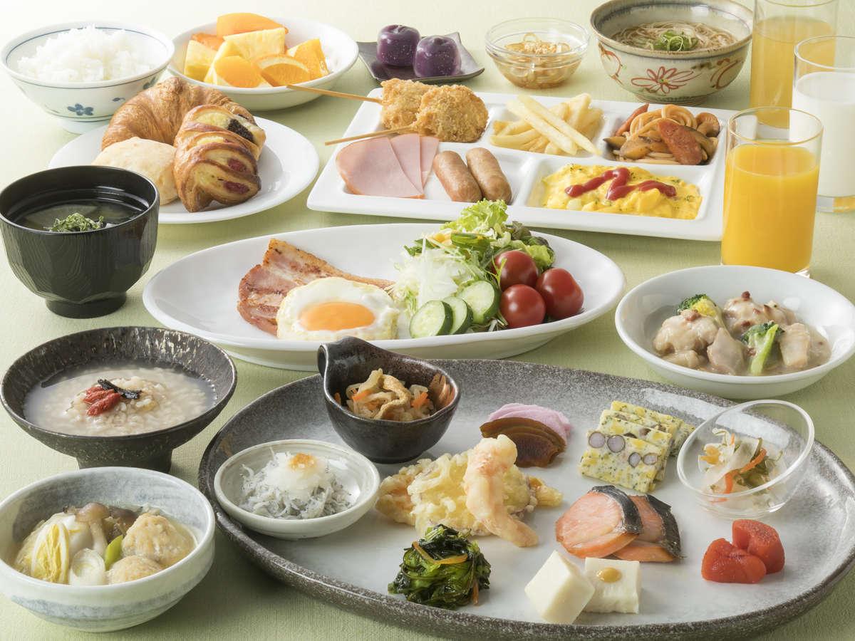 <地産地消朝食バイキング>約80種以上和洋朝食