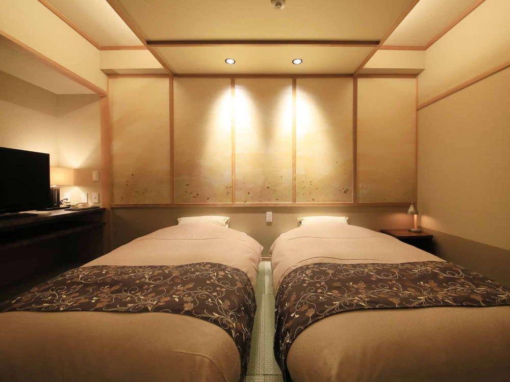 【温泉内風呂付】和室8畳+ベッド※一例