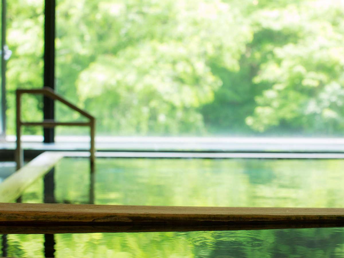 「山水の湯」深緑の景色と温泉をお楽しみください