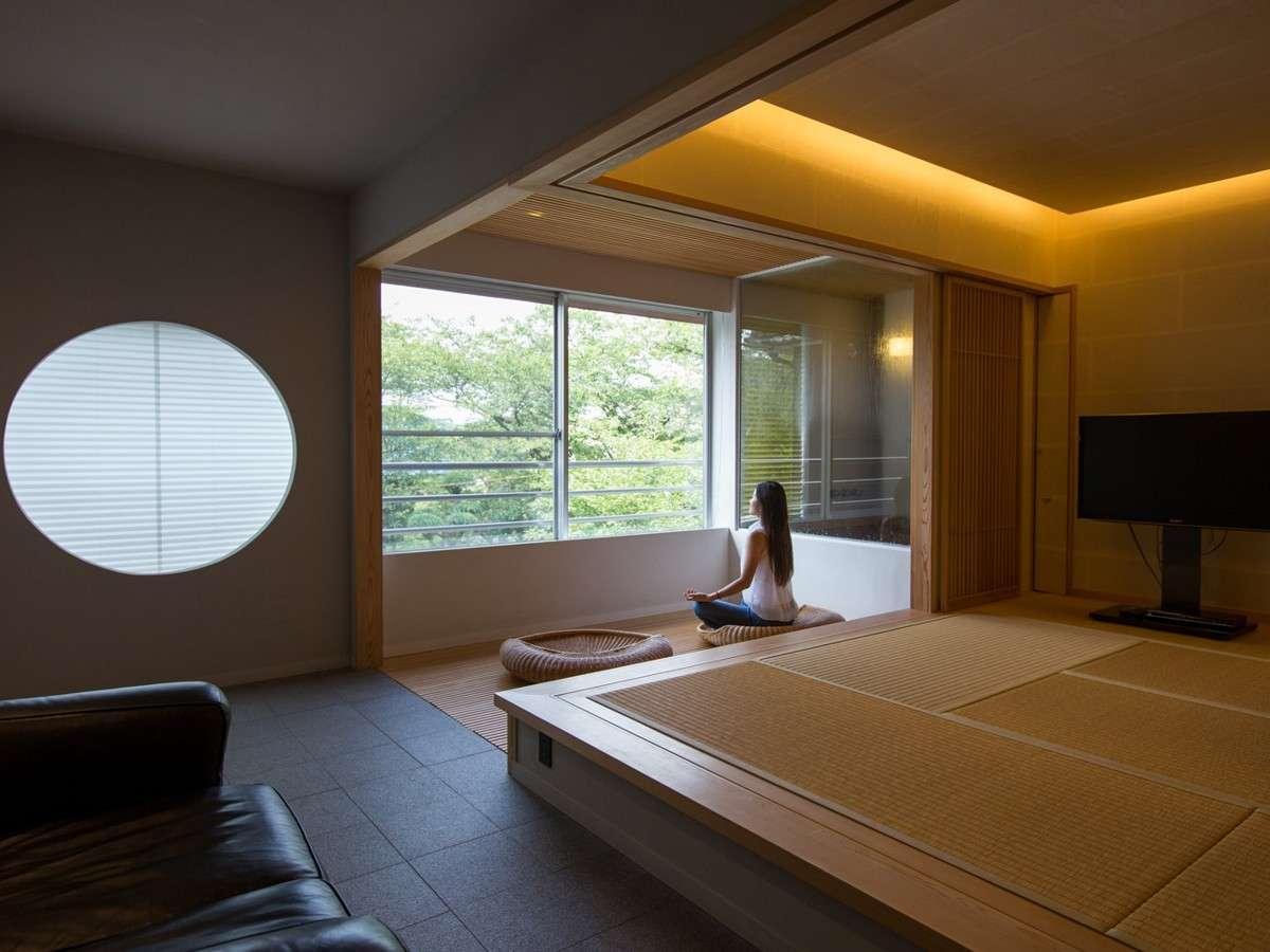 檜風呂付き和洋室「葵」aoi