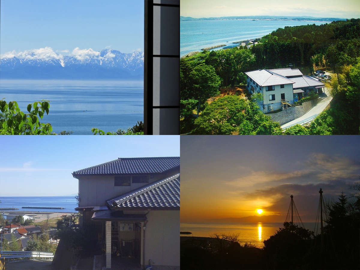 宿からは美しい富山湾を眺めることができます。