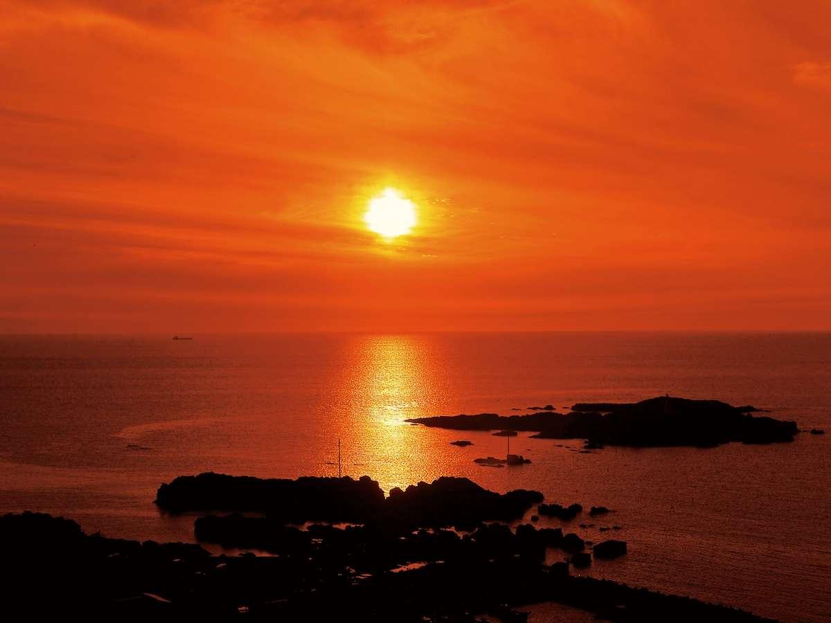日本海と入り陽