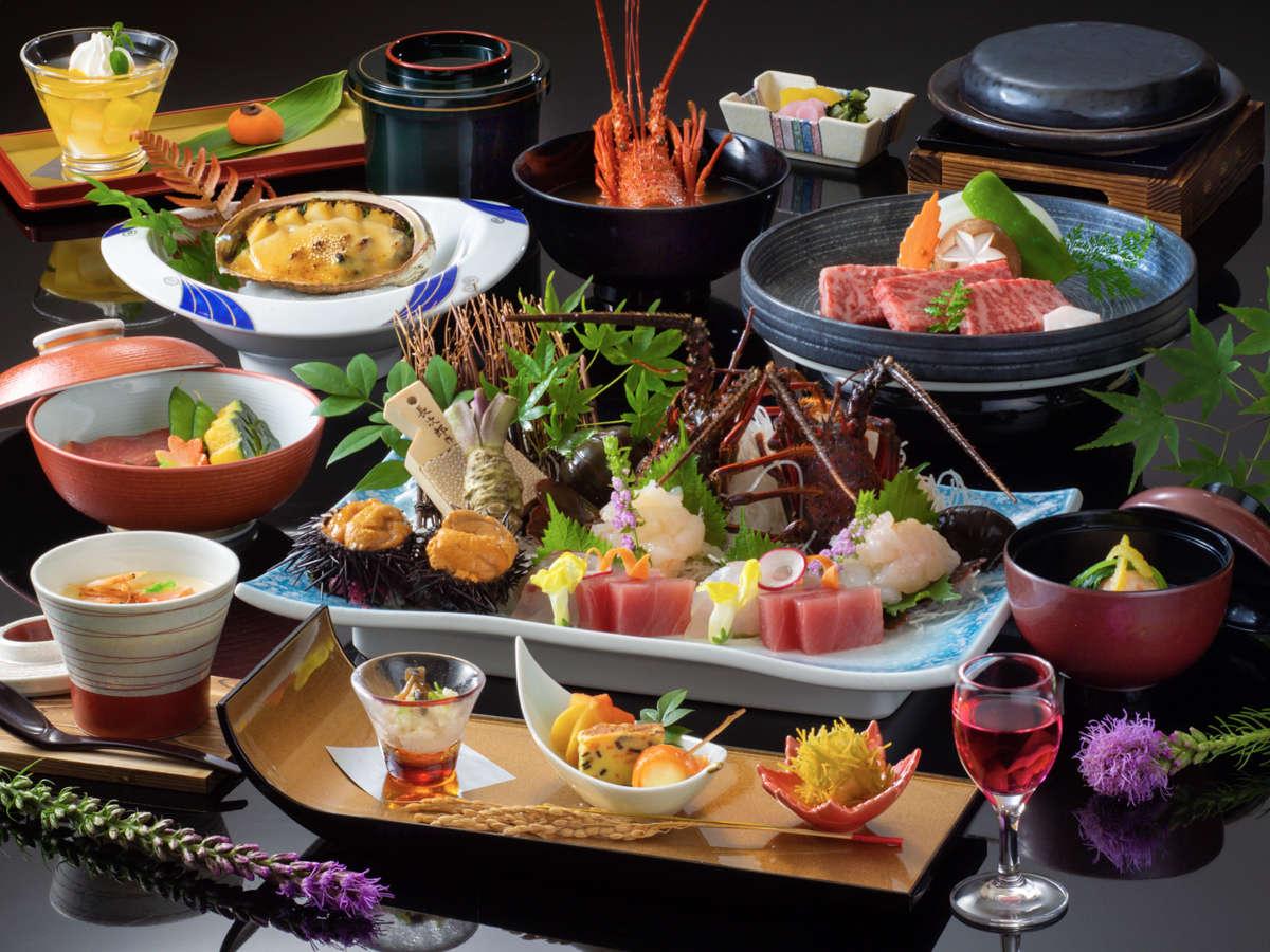 「贅沢和会席」黒毛和牛に加え、ぷりっぷりの伊勢海老の味をご堪能下さい!