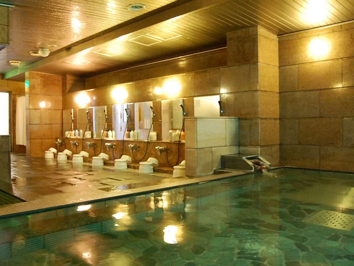 美濃加茂の大浴場は他館に比べて大きめのものをご用意しております