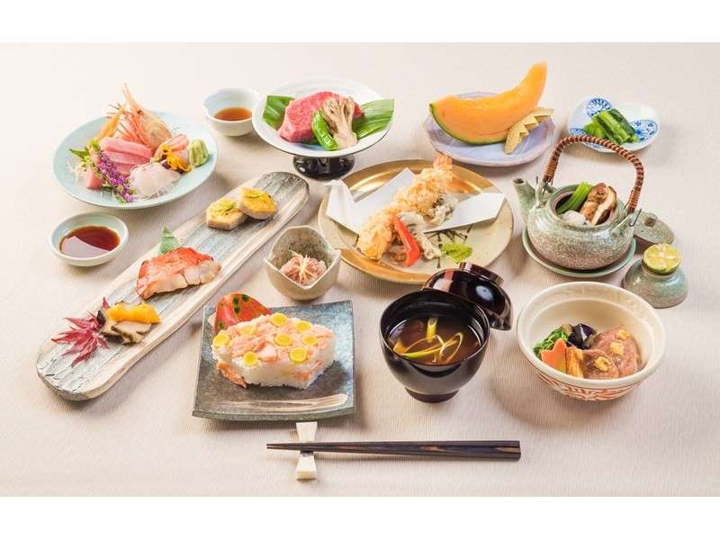 【ご夕食】季節の和懐石コースの例