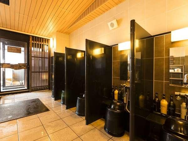 【男性】洗い場(カラン6個設置)