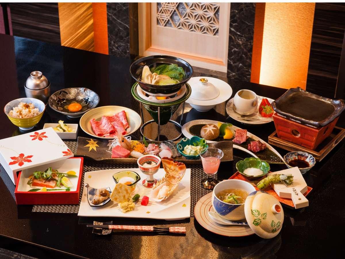 山海創作料理は目で見ても楽しめるお料理となっております。