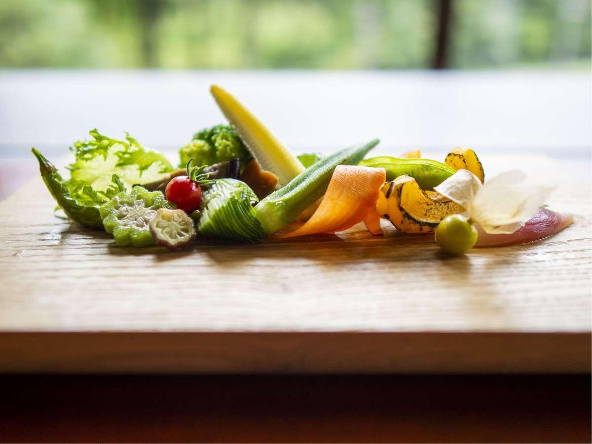 秋の精進料理 藤屋のスペシャリテ「今日の畑」