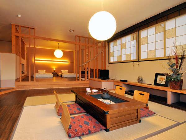 【展望風呂付特別室】広々とした客室でのんびりお寛ぎ下さい。