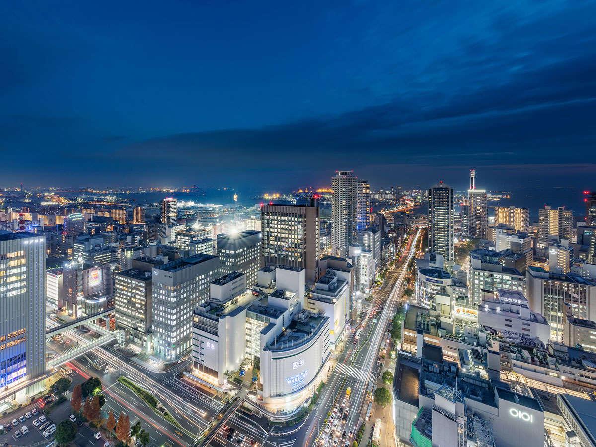 海側(夜景)イメージ 神戸の夜景と大阪湾をお楽しみいただけます