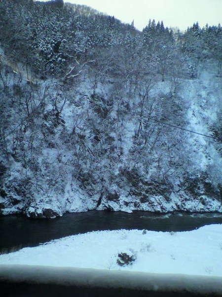 ロビーからの渓谷の眺めです。