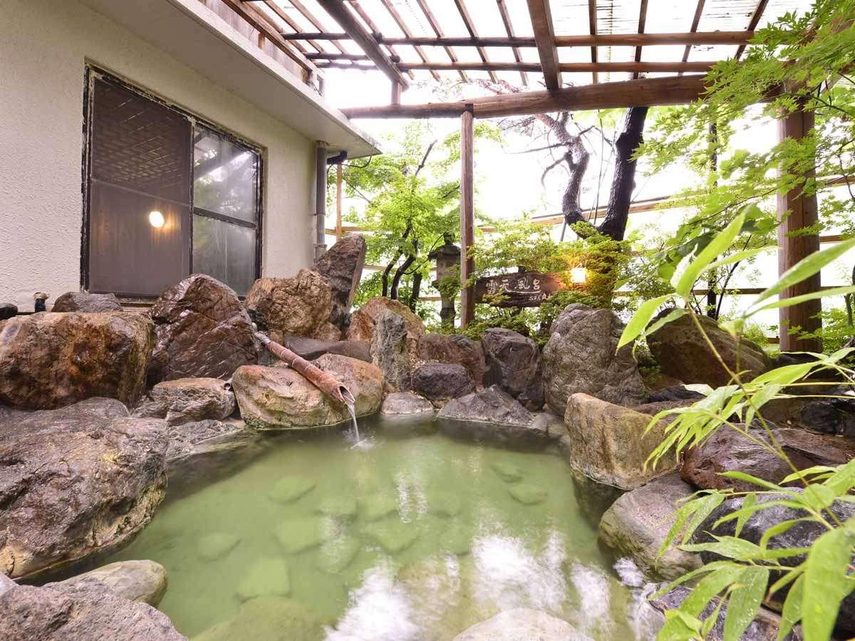 ◎温泉(露天風呂)一例/阿賀野川からの川風を感じながらお寛ぎください。