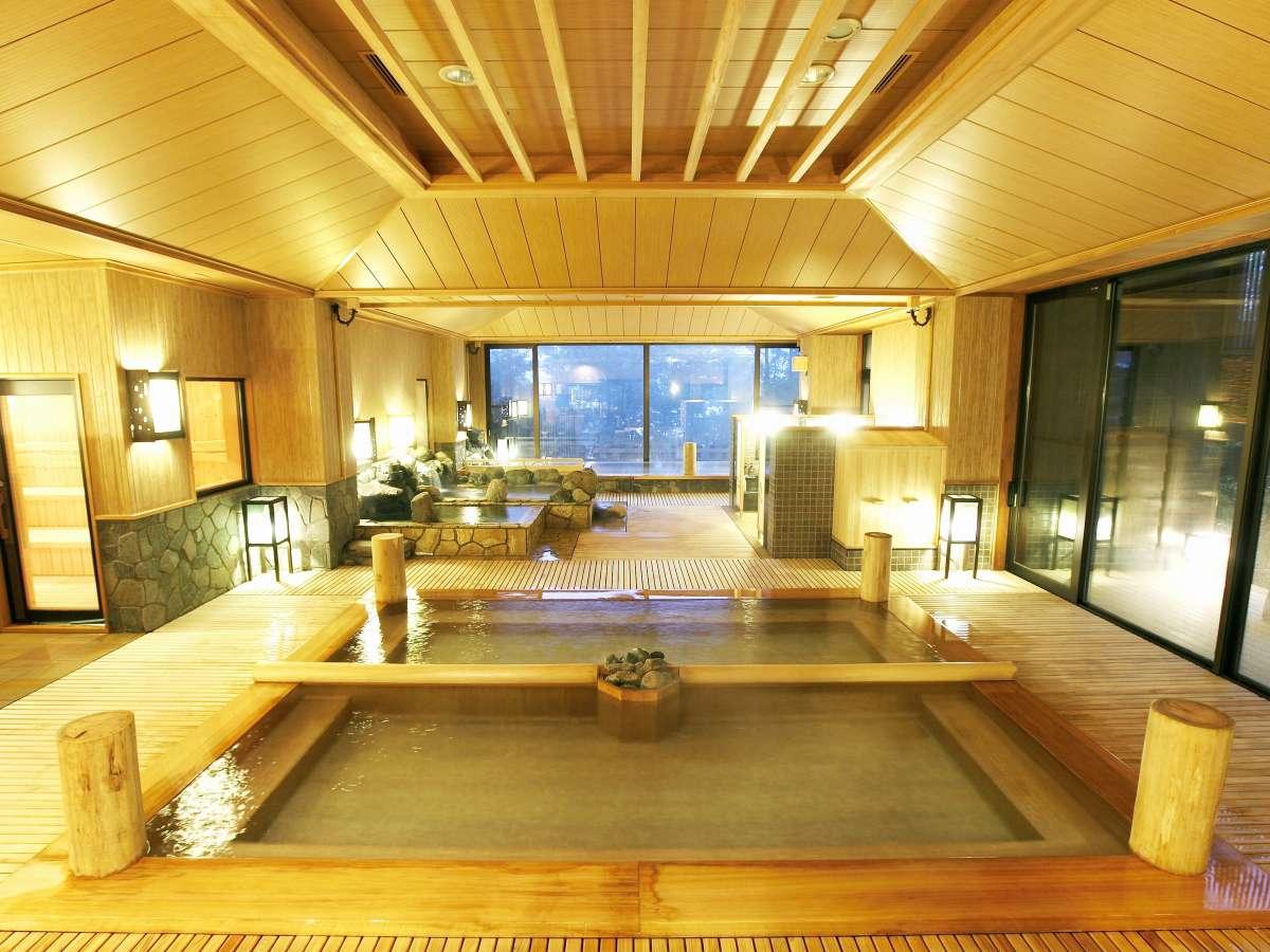 当館の自慢の湯殿をお愉しみ下さい/Enjoy the onsen in big bath