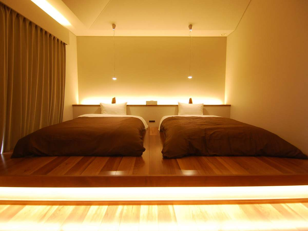 (オナーズヒル10)ベッドルーム1(セミダブルベッド×2)