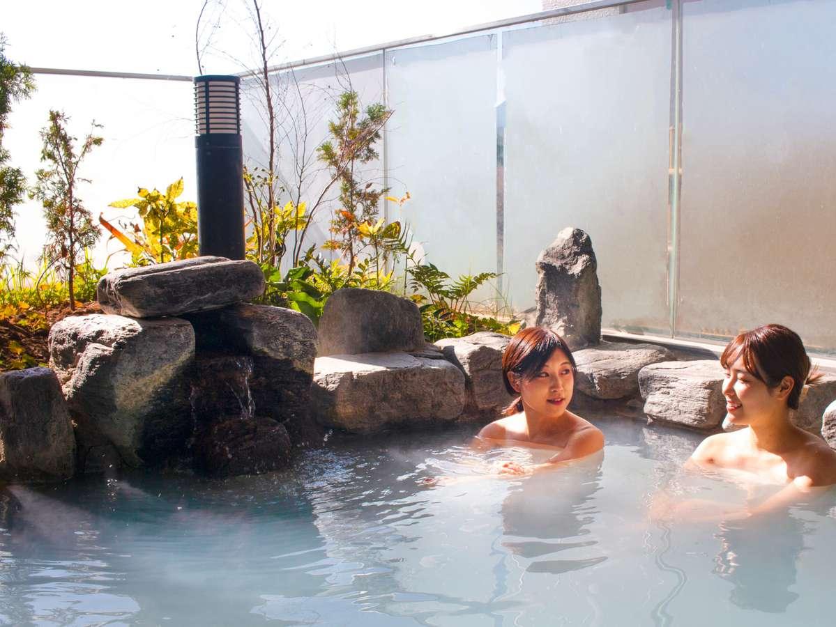 県内有数のpH10.3の日帰り温泉【美白の湯】宿泊者は無料でご利用いただけます。