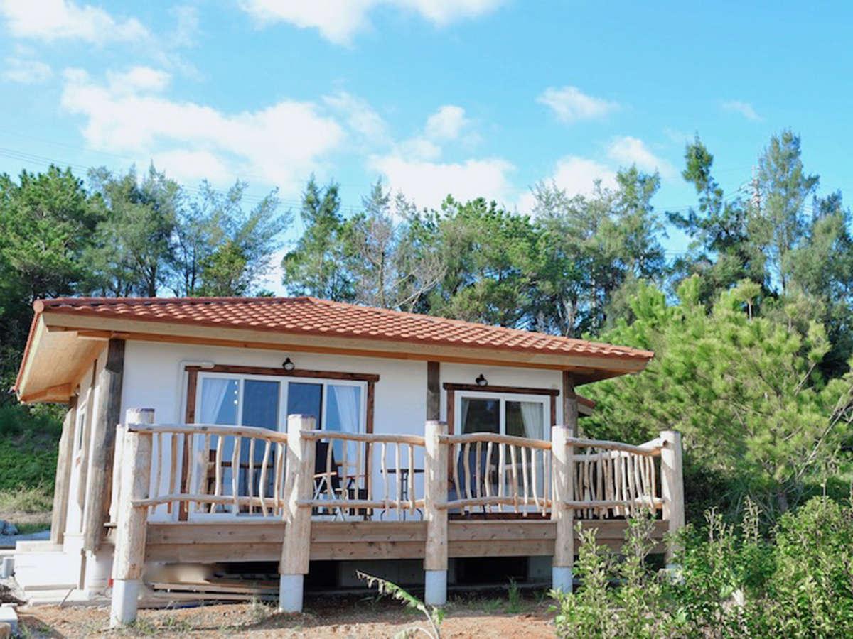 *外観/自然にとことんこだわったログハウス貸別荘で、他とはひと味違う沖縄旅行♪