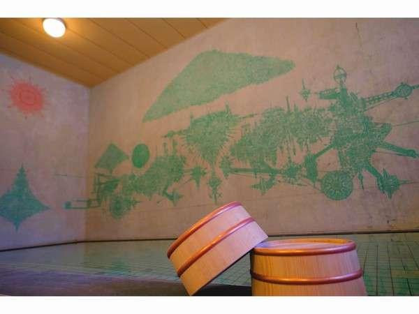 現代アート壁画浴場