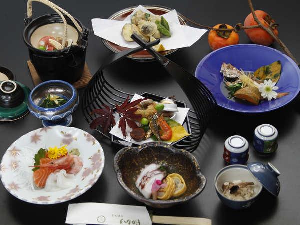 秋の味覚を詰め込んだ京風懐石料理