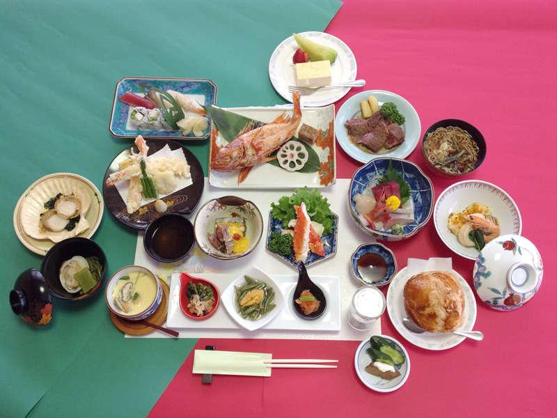 *【食事例】ゆめろんスペシャルコース。旅の醍醐味は食事!という方におすすめ。