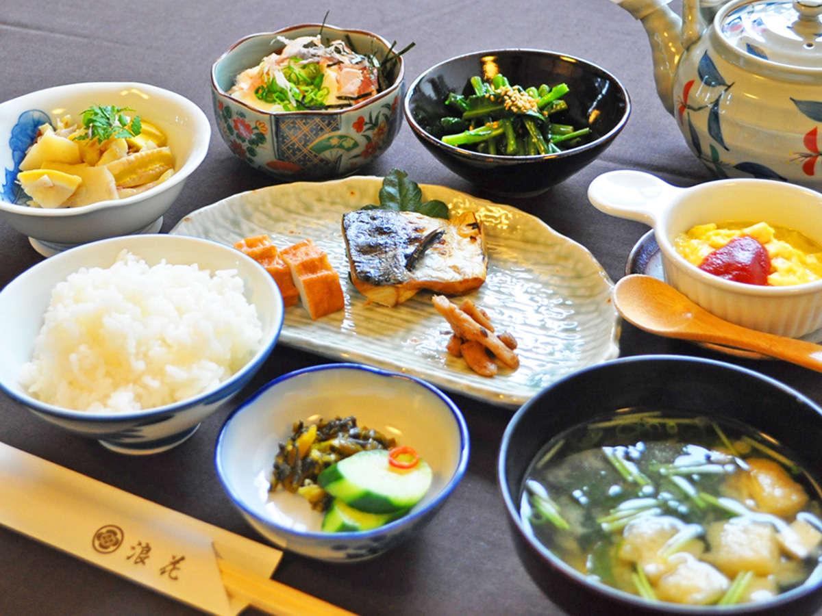 【朝食の一例】お米はご当地自慢の仁多米をご提供。