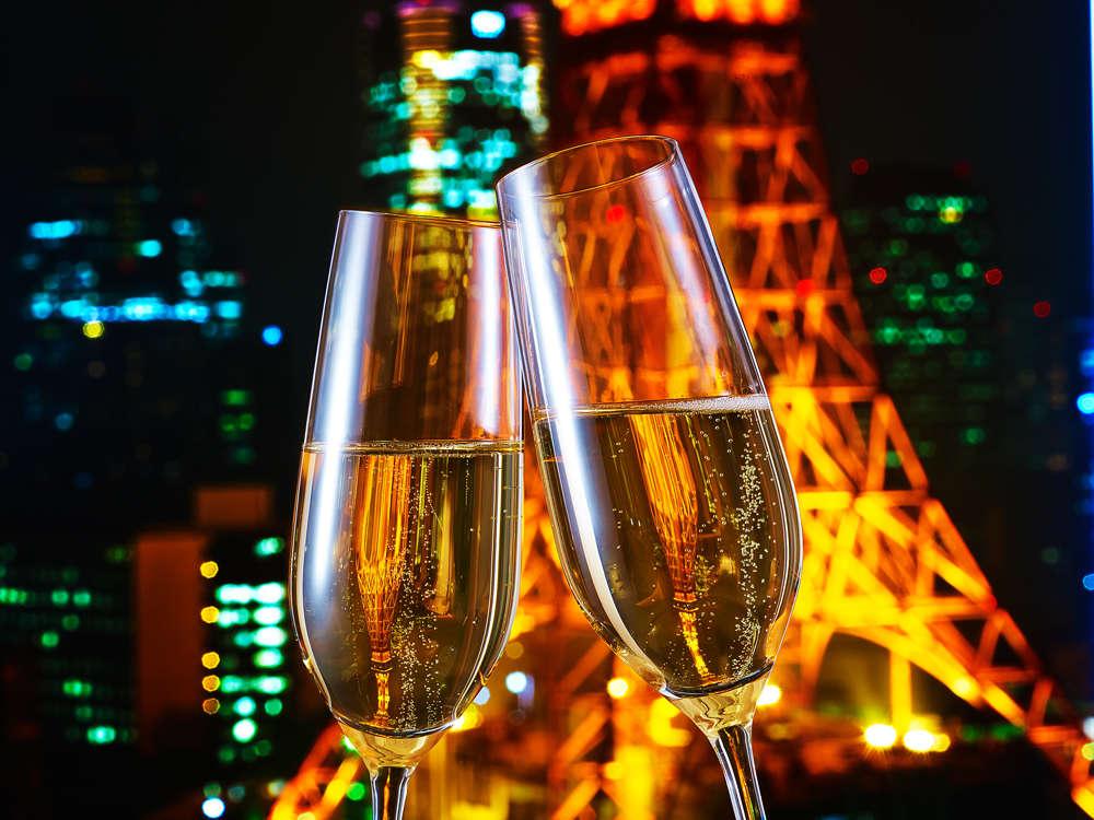 東京タワー&シャンパン