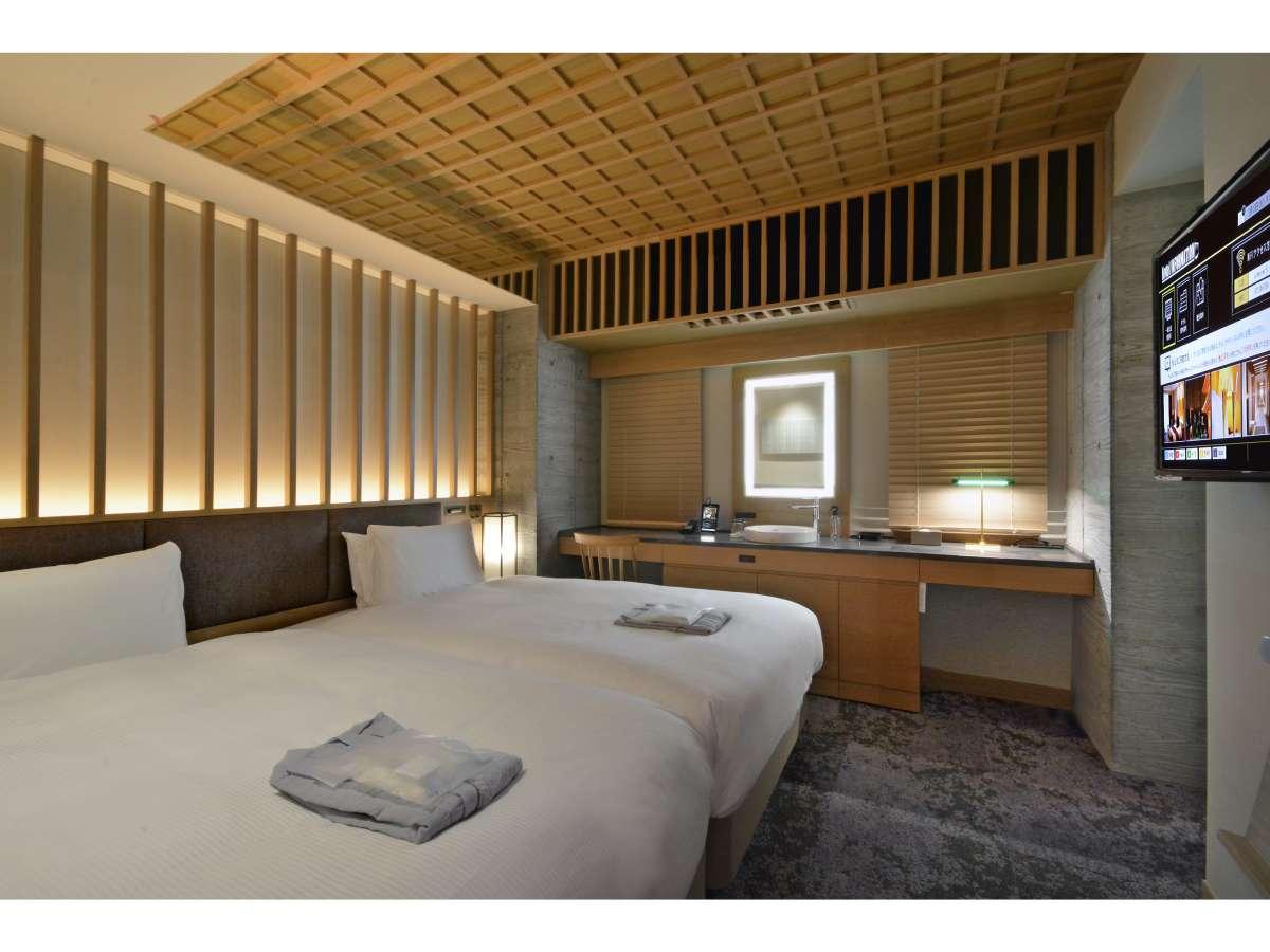 【客室】スーペリアツインルーム/禁煙/120cm幅ベッド×1台/12平米