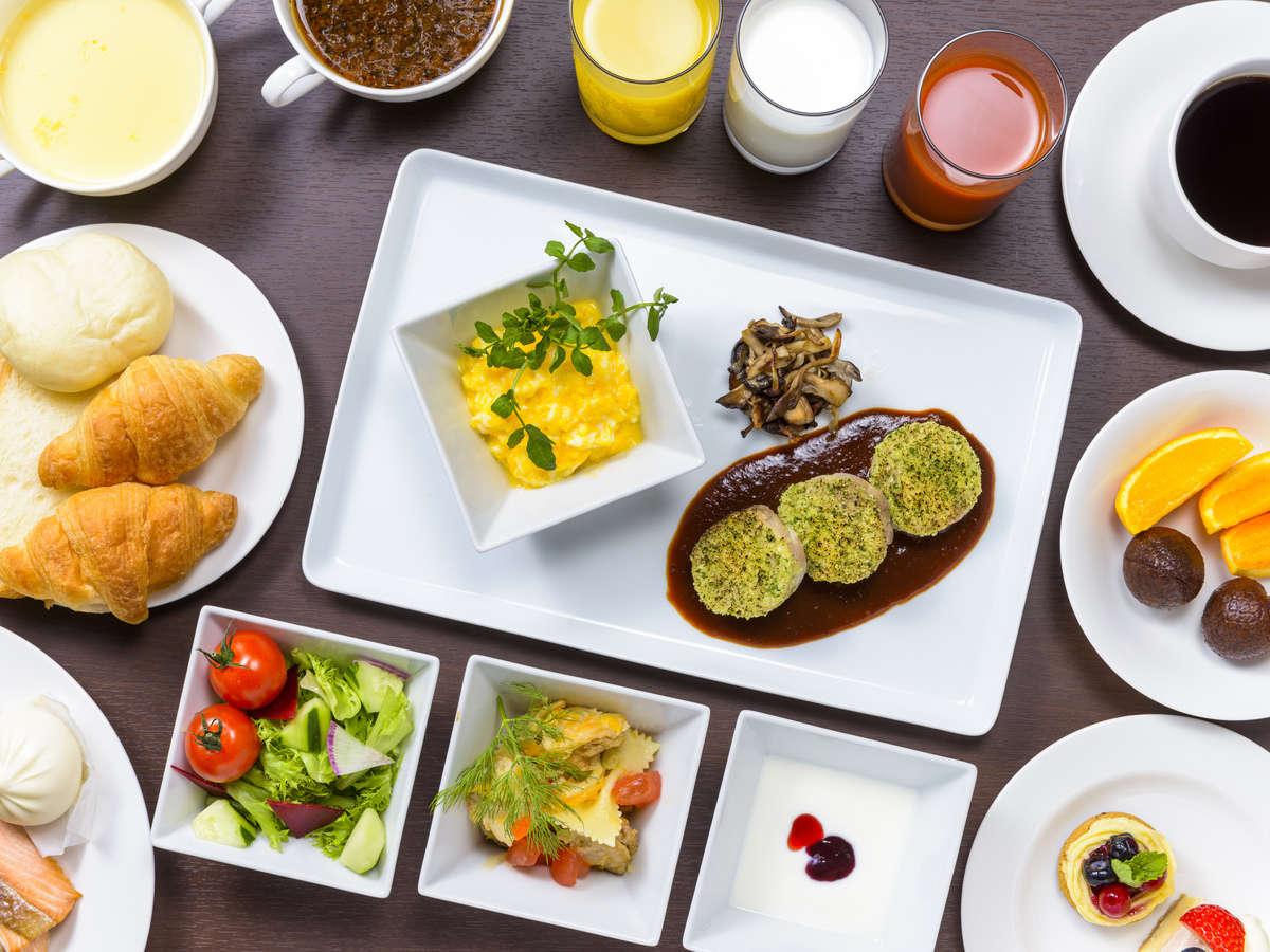 道産食材を使った色彩豊かな和洋バイキング朝食