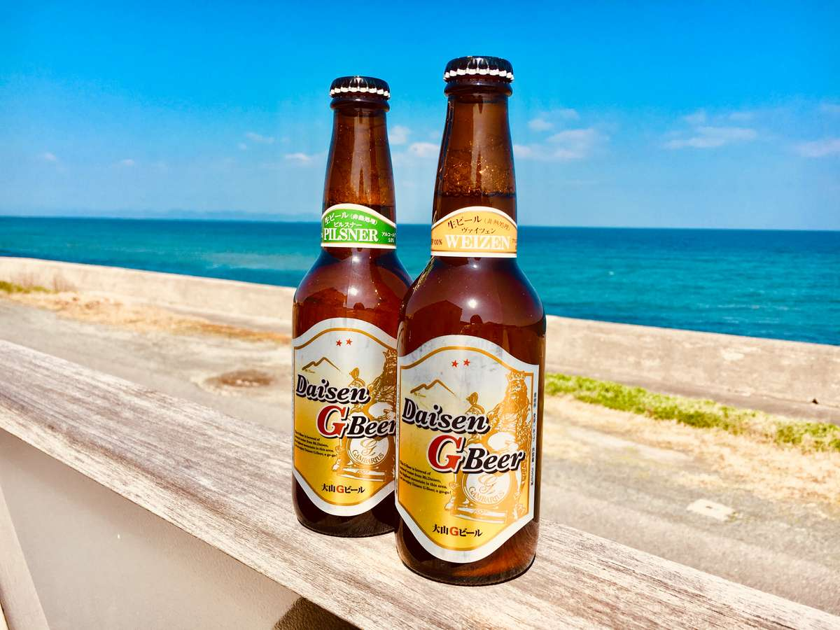 大山鳥のプランで飲める☆鳥取の地ビールです♪ピルスナーヴァイツェンがあります!