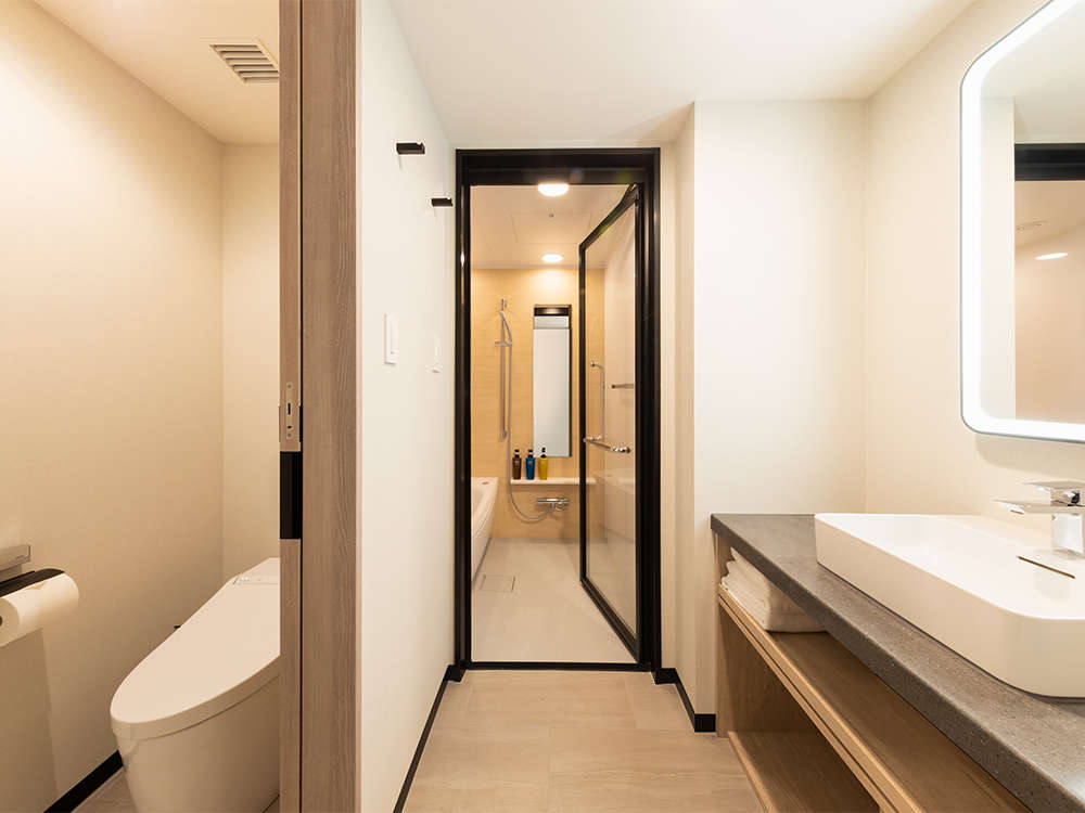 【風呂】プレミアムルーム・プレミアムルームはバスルーム・トイレがセパレートとなっております。