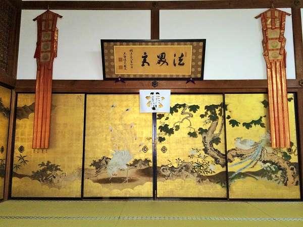 持仏前広間の襖絵