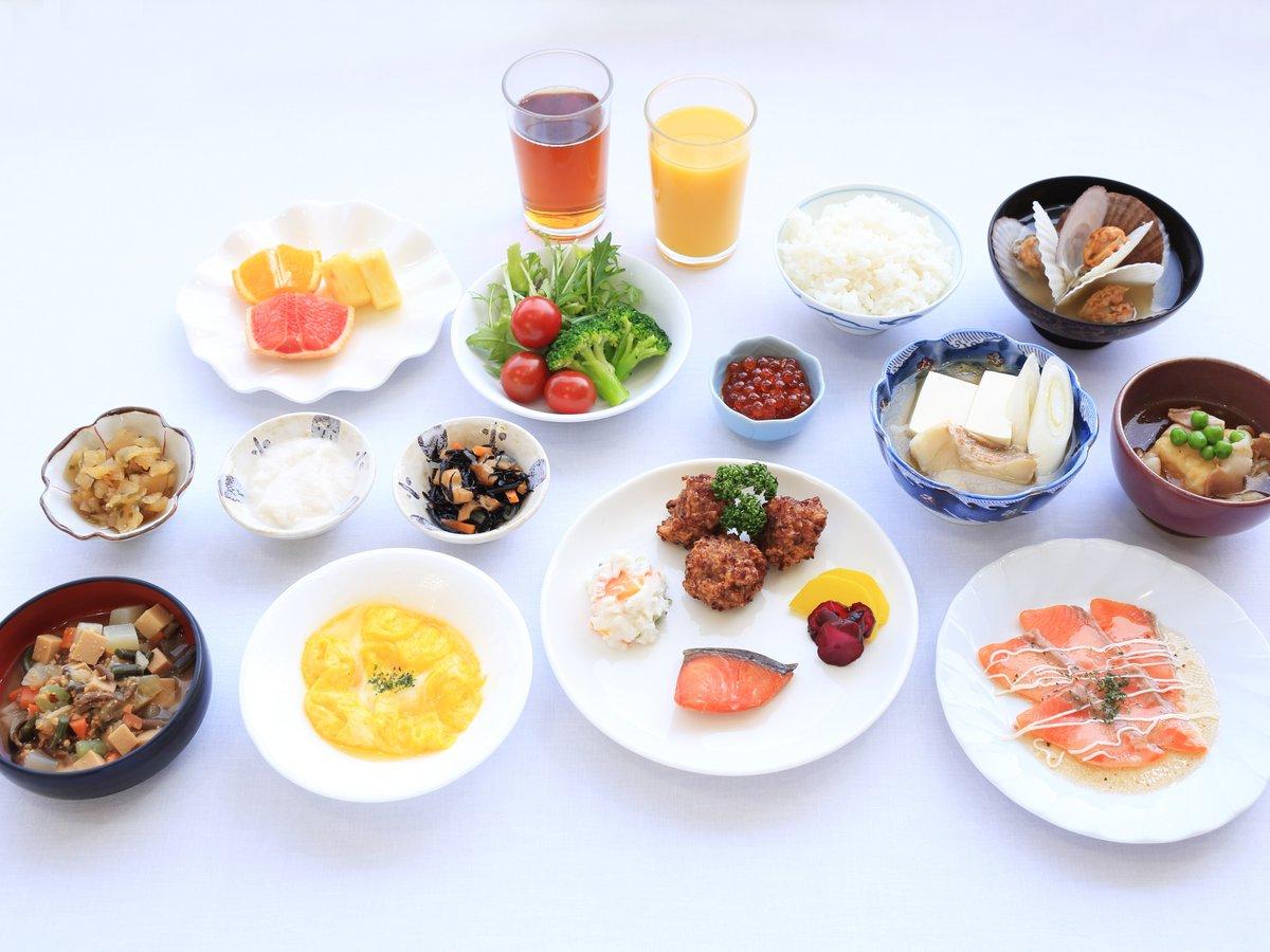 朝食メニューの一例