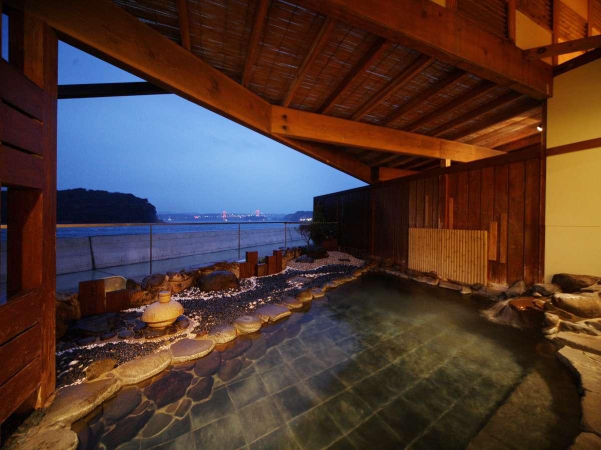 【海望露天風呂】お天気がいい日は露天風呂から絶景の朝日が見れます。貸切露天風呂・展望風呂も有り