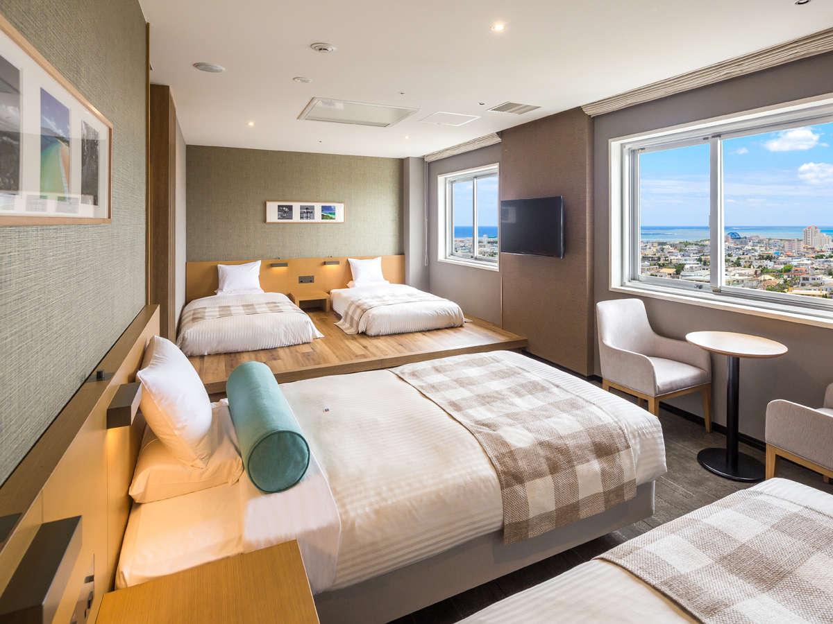 【オーシャンビュー デラックスフォース】客室最上階限定1室/3~4名様までご宿泊可能