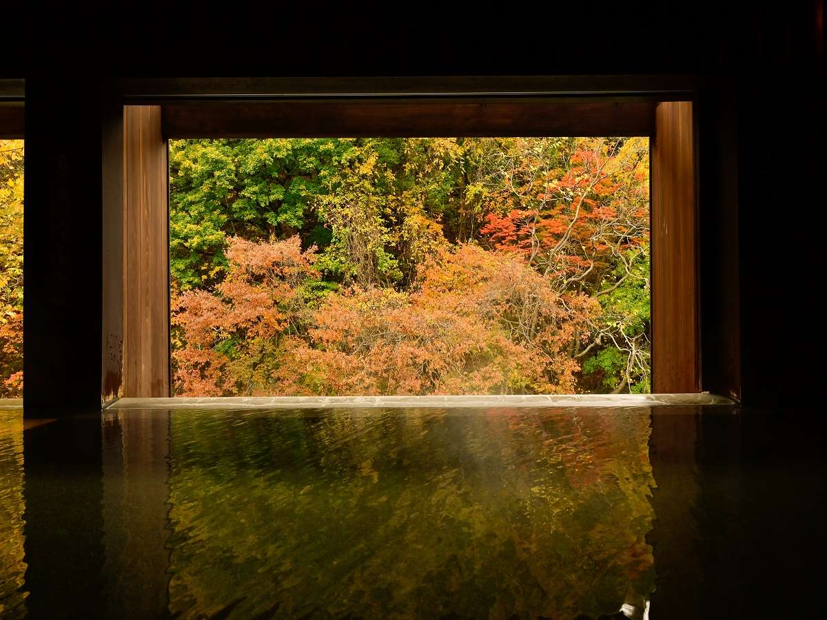 紅葉の時期には目の前の美しい景色をご覧頂けます。