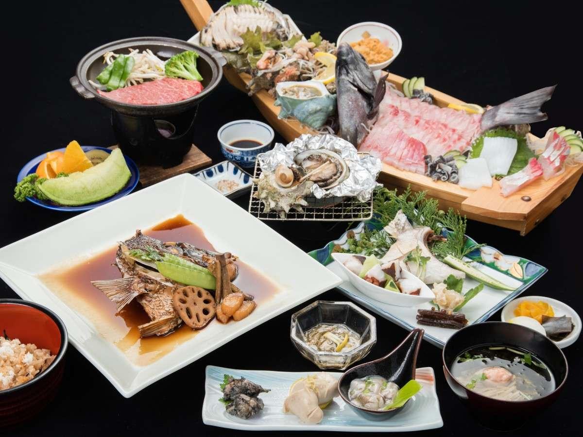 *【グレードアップ夕食一例】厳選された食材&ボリューム満点のコース