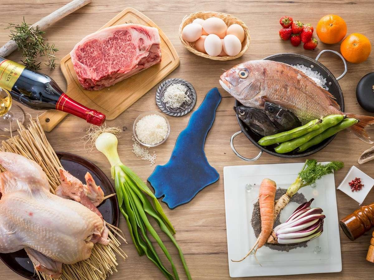 淡路島の生産者の方から直接届けられる安心・安全な食材を使った料理をご提供