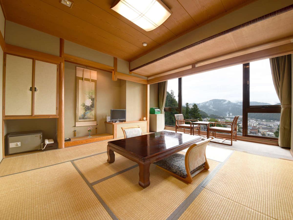 *【和室8畳】下呂の街並みの移ろいを眺め、夕食はお部屋でゆったり…快適な休日をお過ごしくださいませ