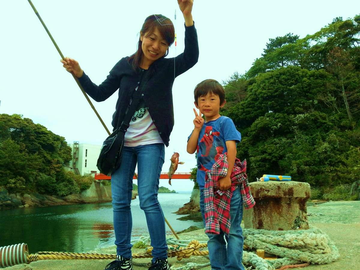 【魚釣り体験】ご家族みんなで楽しんで頂けます♪釣れたお魚は【無料調理】か【カラー魚拓】に。